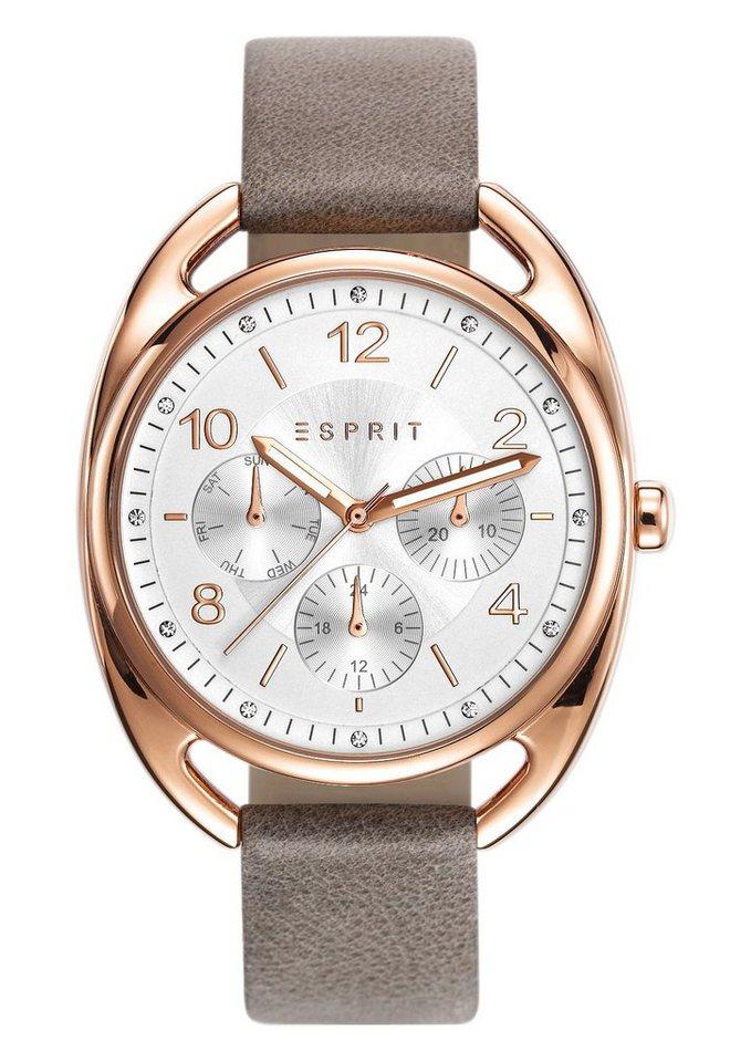 Esprit Multifunktionsuhr »ESPRIT-TP10817 TAUPE, ES108172003« in taupe