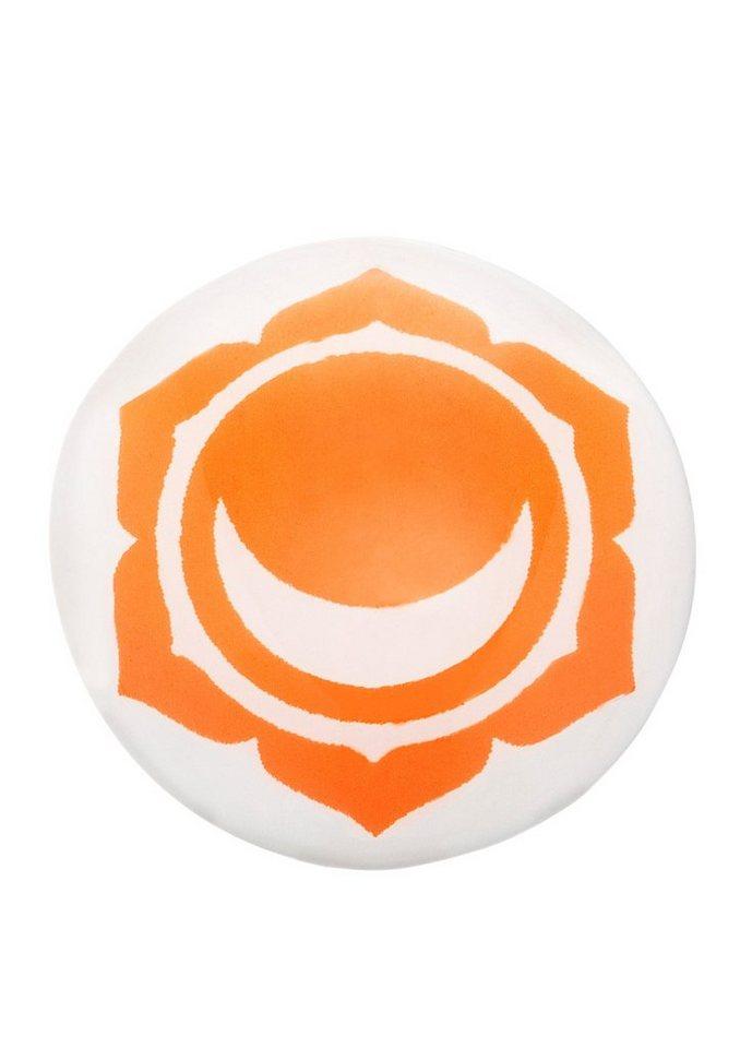 Klangchakra, »Sakral, ERS-CHAKRA-06«, Engelsrufer in weiß/orange