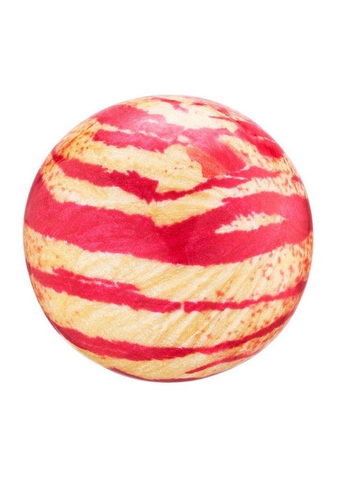 Klangkugel, »Zebra pink/gelb, ERS-ZERBA13«, Engelsrufer in pink/gelb