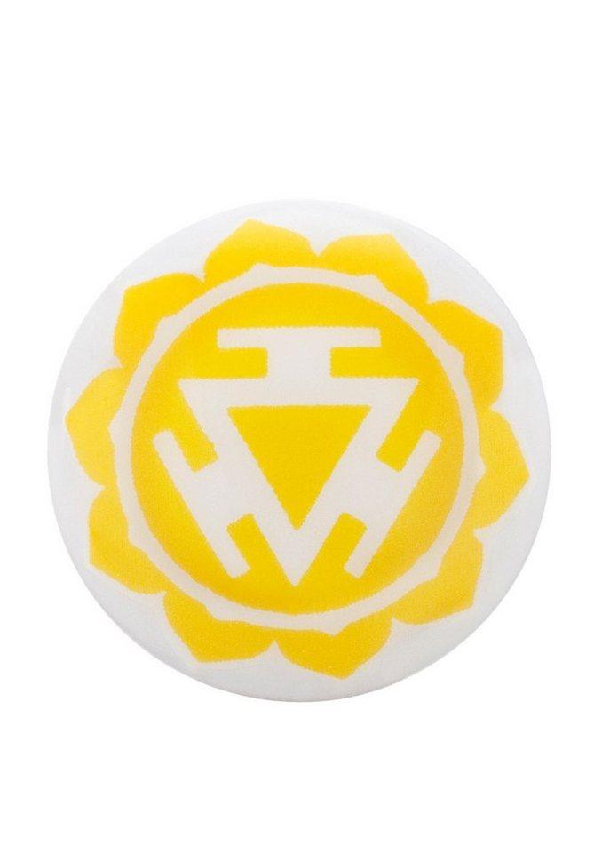 Klangchakra, »Solarplexus, ERS-CHAKRA-05«, Engelsrufer in weiß/gelb
