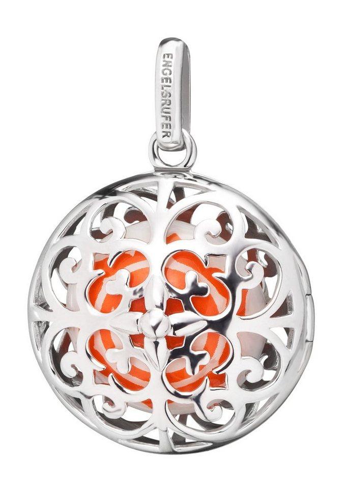 Engelsrufer Halsschmuck: Anhänger ohne Kette mit Klanglinse »Sakralchakra, ERP-CHAKRA-06« in Silber 925/weiß/orange