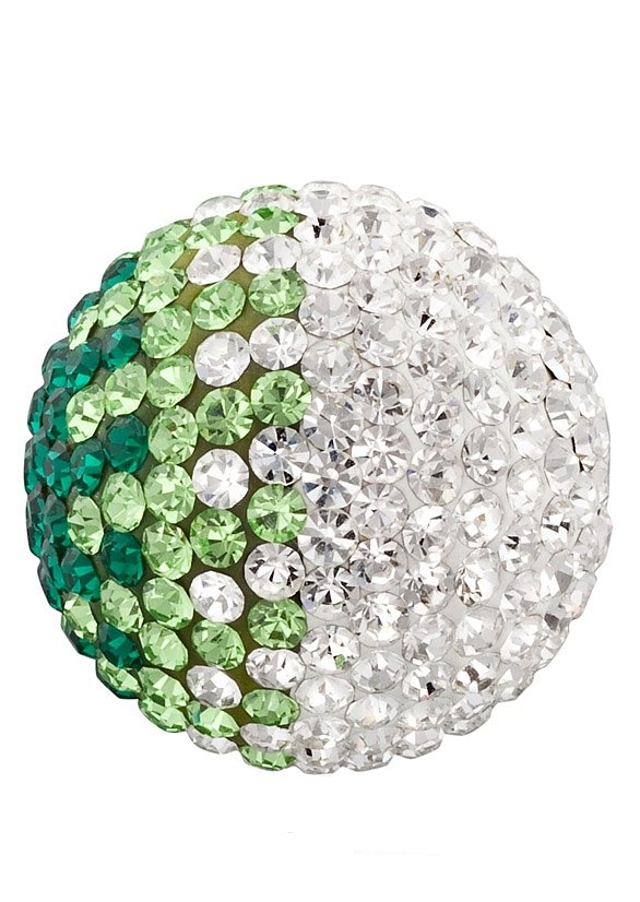 Klangkugel, »Crystal grün/weiß, ERS-04-ZI«, Engelsrufer in grün/weiß