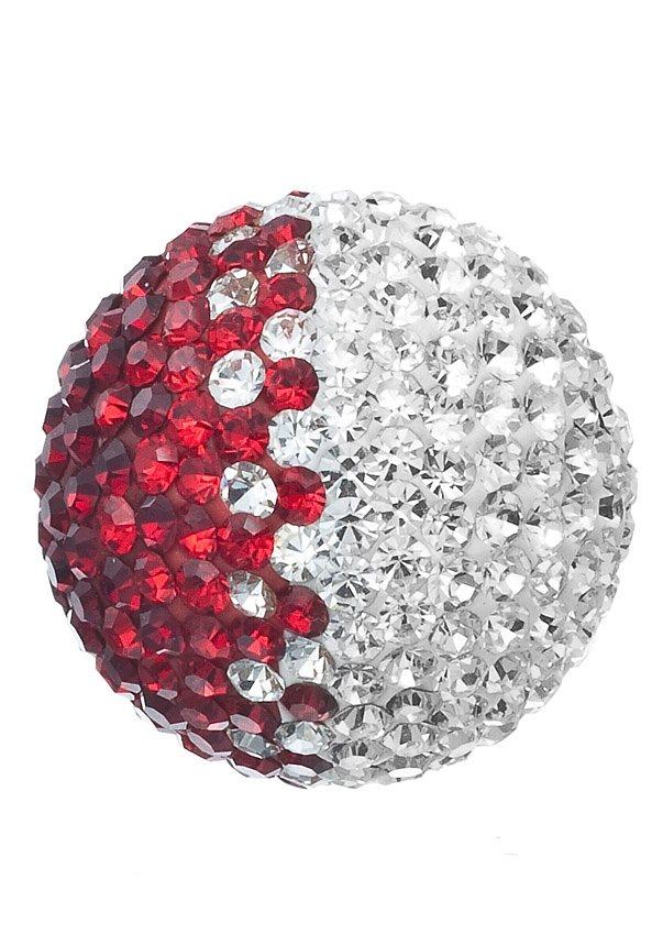 Klangkugel, »Crystal rot/weiß, ERS-05-ZI«, Engelsrufer in rot/weiß