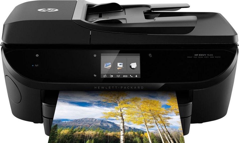 HP Envy 7640e Multifunktionsdrucker in schwarz