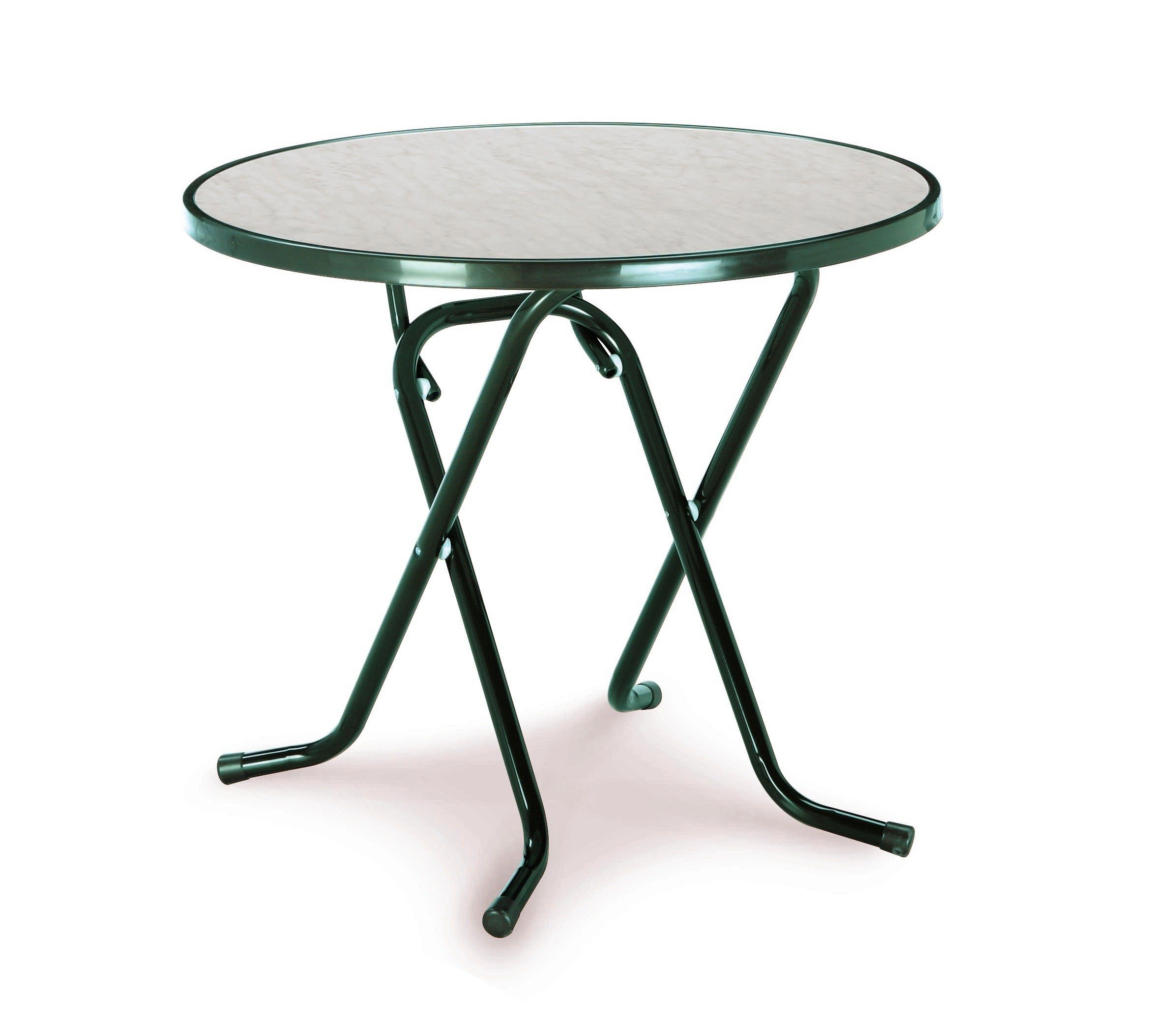 Best Gartentisch »Primo«, klappbar, Stahl/Kunststoff, Ø 80 cm, grün