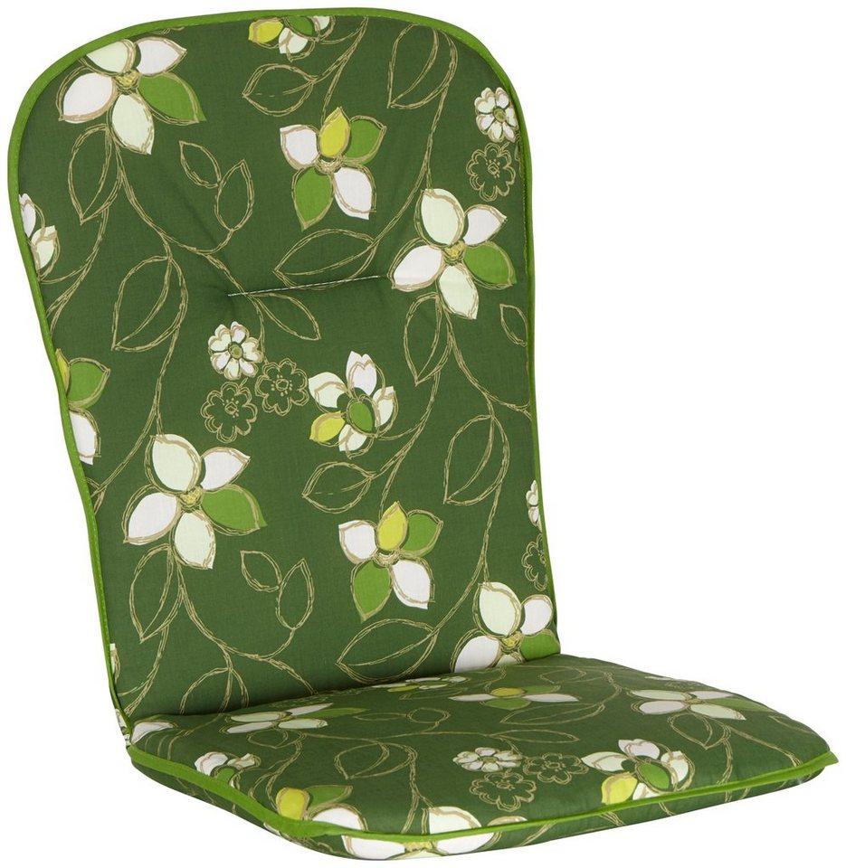 Sesselauflage, (4 Stück) in grün