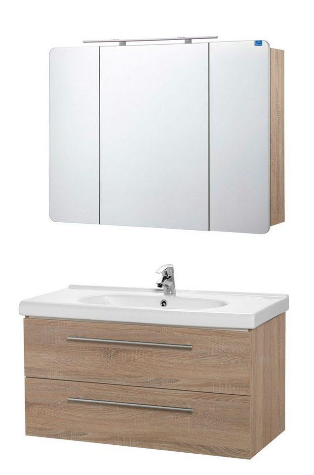 Badmöbel-Set »OPTIpremio 2020«, 100 cm, 3-teilig in braun