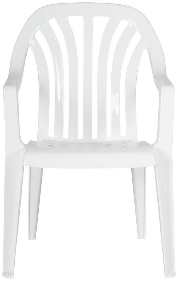 BEST Gartenstuhl »Laredo«, (4er Set), Kunststoff, Stapelbar, Weiß