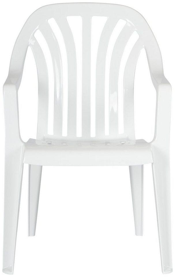 Gartenstuhl »4 Stück« in weiß