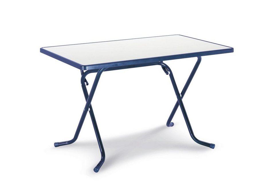 best gartentisch primo stahl kunststoff klappbar 110x70 cm blau online kaufen otto. Black Bedroom Furniture Sets. Home Design Ideas