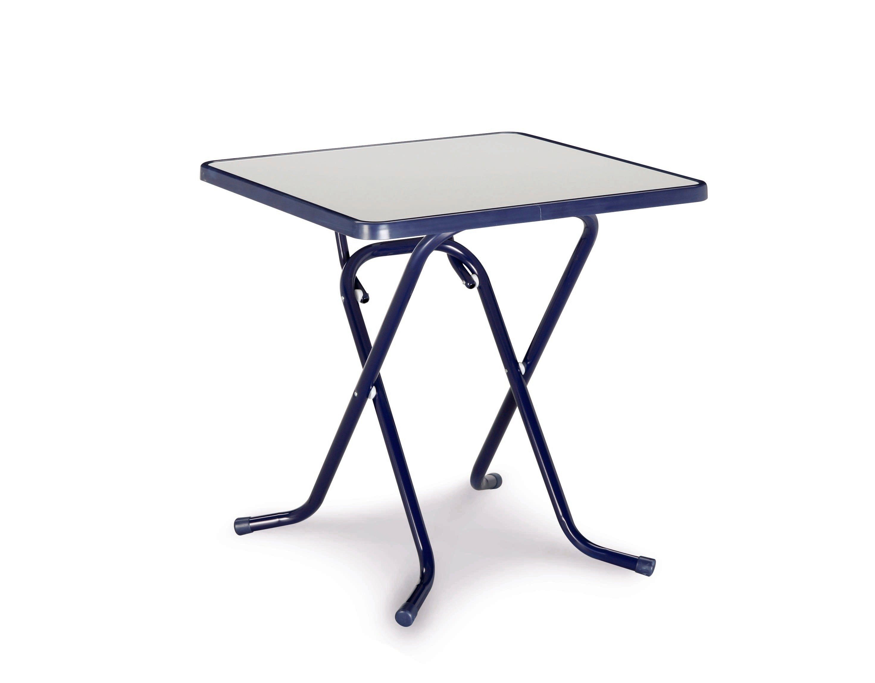 BEST Gartentisch »Primo«, Stahl/Kunststoff, klappbar, 67x67 cm, blau