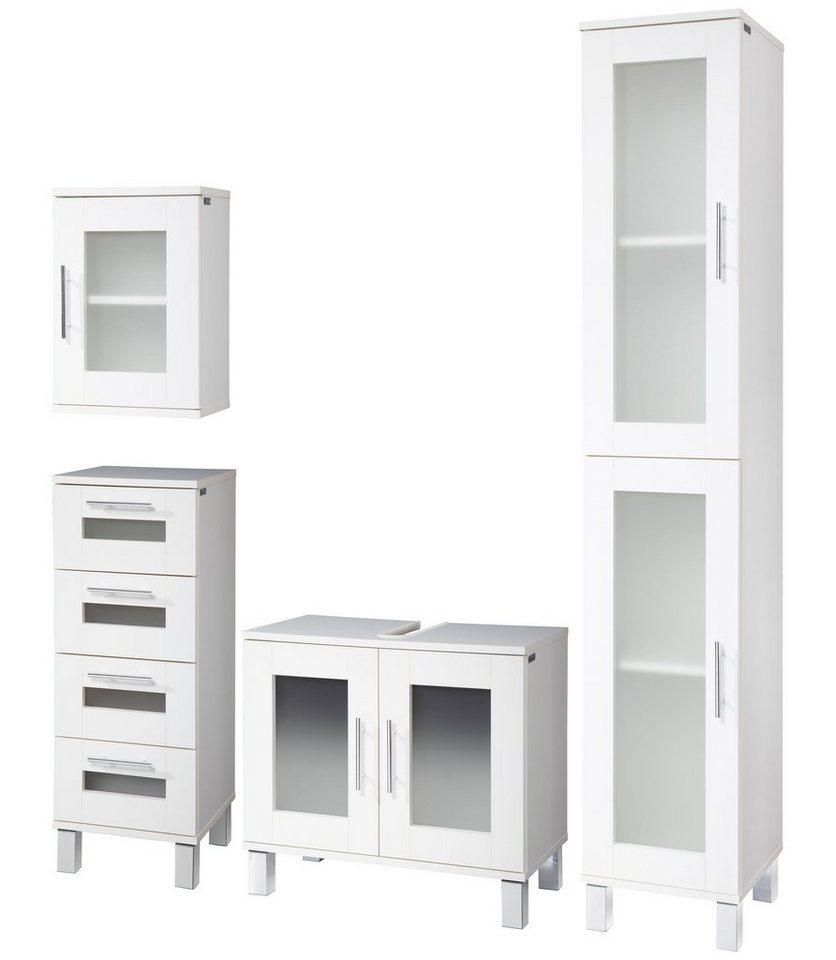 Badmöbel-Set »Helsinki«, 4-tlg. in weiß