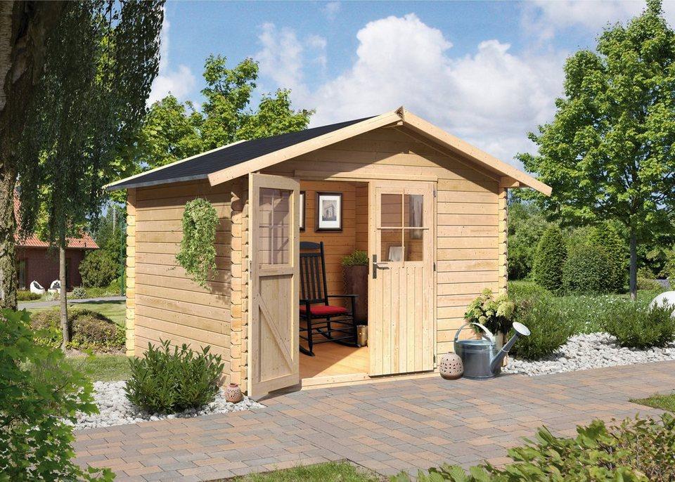 Karibu Gartenhaus »Altona 10«, BxT: 280x280 cm in natur