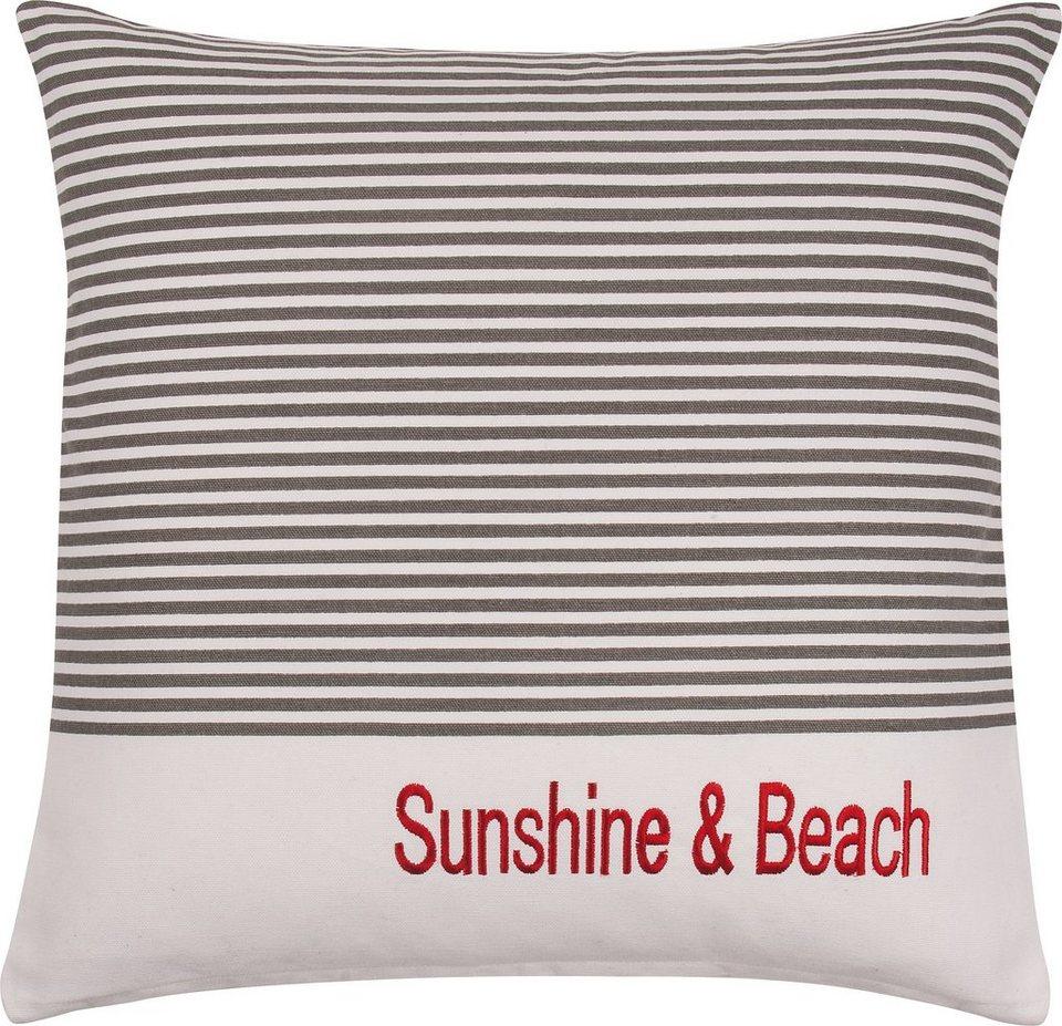 Kissenbezug, Pad, »Sea Stripes«, maritimer Look in grau