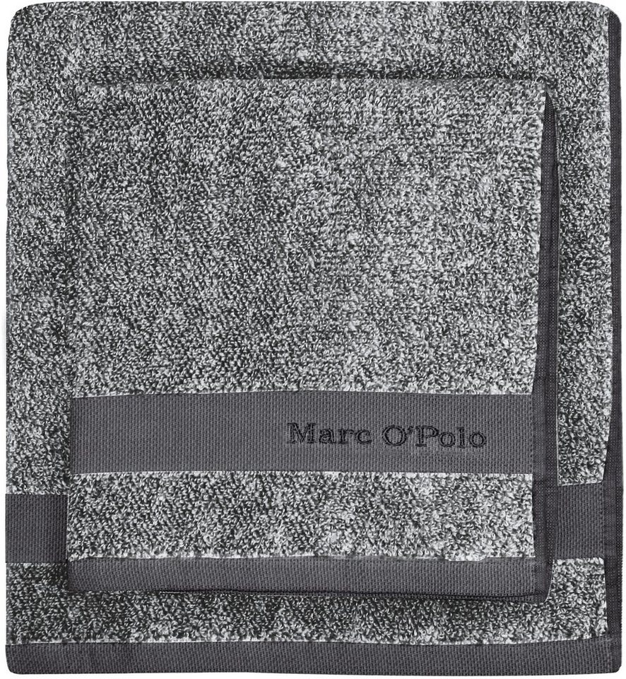 Badetuch, Marc O'Polo Home, »Melange«, mit Logostickerei in anthrazit