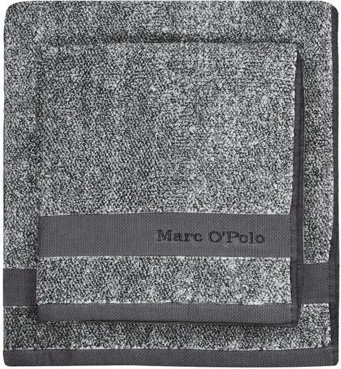 Handtuch »Melange«, Marc O'Polo Home, mit hübscher Logostickerei