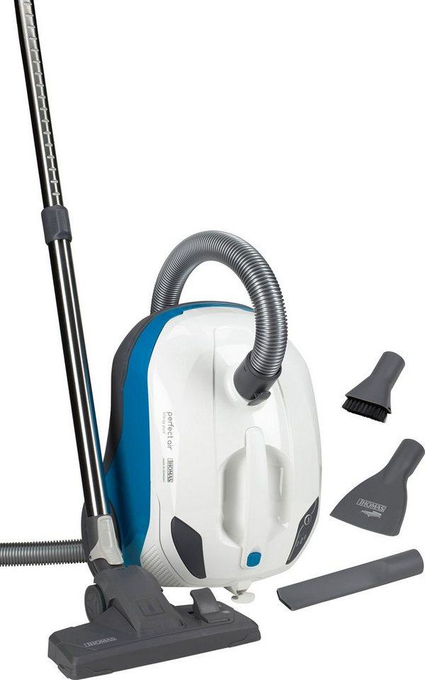 Thomas Bodenstaub-Waschsauger perfect air allergy pure, Beutellos, weiß/blau in weiß/blau