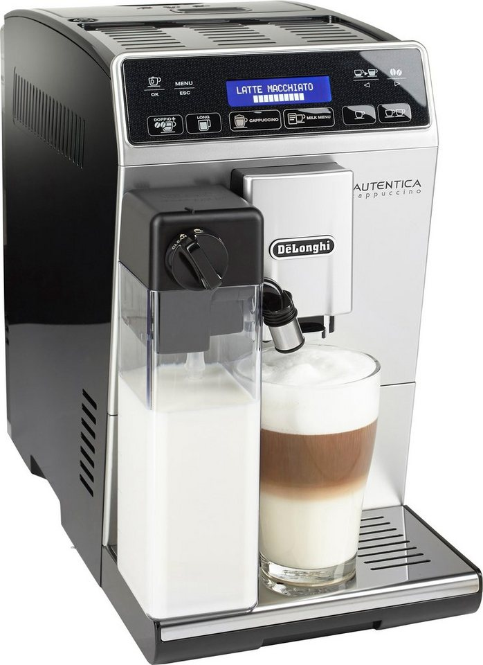 de 39 longhi kaffeevollautomat autentica etam 1 3l tank kegelmahlwerk nur 19 5 cm. Black Bedroom Furniture Sets. Home Design Ideas
