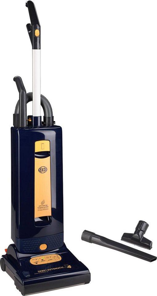 Sebo Bürststaubsauger SEBO AUTOMATIC X4 BLAU, Beutel, 1100 Watt in dunkelblau