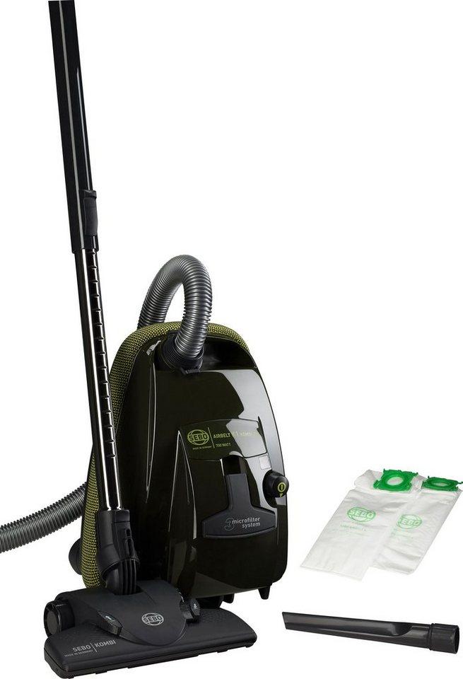 SEBO Bodenstaubsauger AIRBELT K1 KOMBI 700, Beutel, Energieeffizienzklasse A in schwarzgrün
