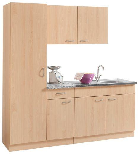 wiho Küchen Küchenblock »Kiel«, Breite 190 cm mit 28 mm starker Arbeitsplatte, Tiefe 50 cm