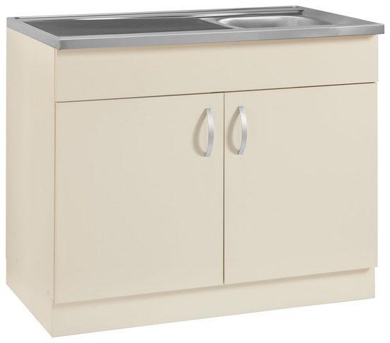 wiho Küchen Spülenschrank »Amrum« 100 cm breit mit Auflagespüle