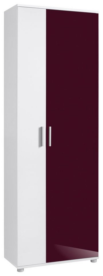 Garderobenschrank »Winsen«, Hmw in weiß-brombeer