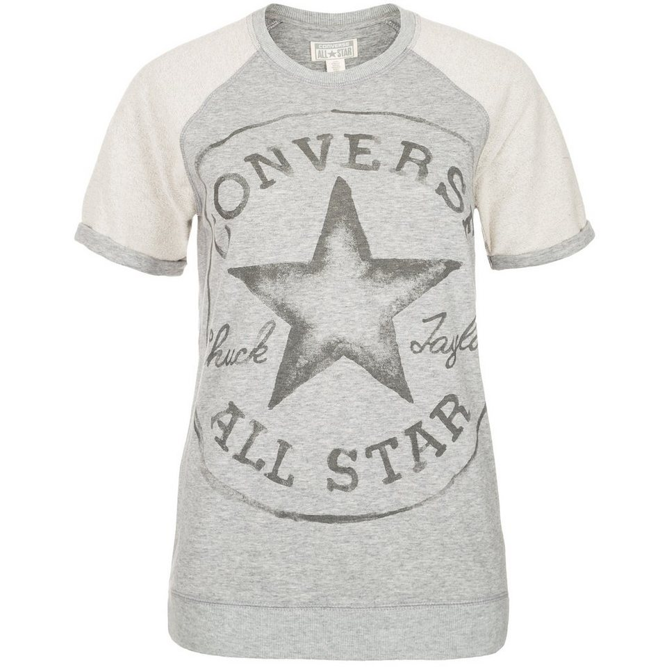 CONVERSE Core Plus Crew Sweatshirt Damen in grau / beige
