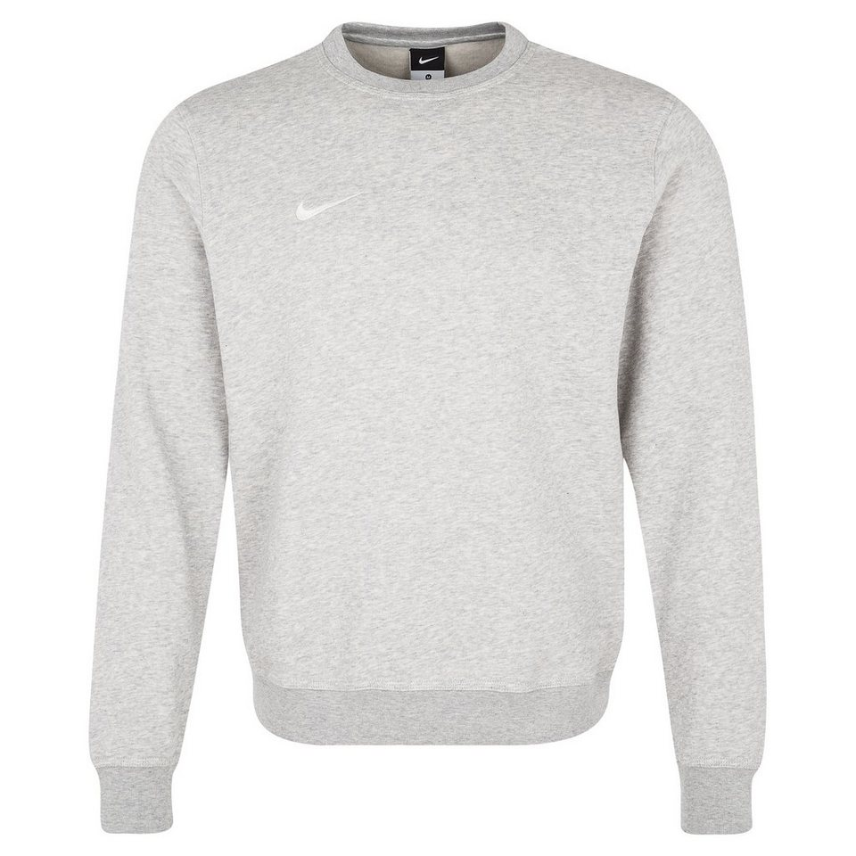 NIKE Team Club Crew Trainingssweat Herren in grau / weiß