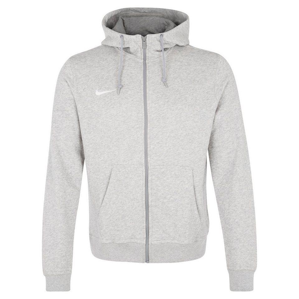 NIKE Team Club Trainingskapuzenjacke Herren in grau / weiß