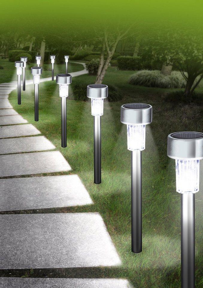 GartenGlück-Solarleuchten-Set (10tlg.) in silberfarben