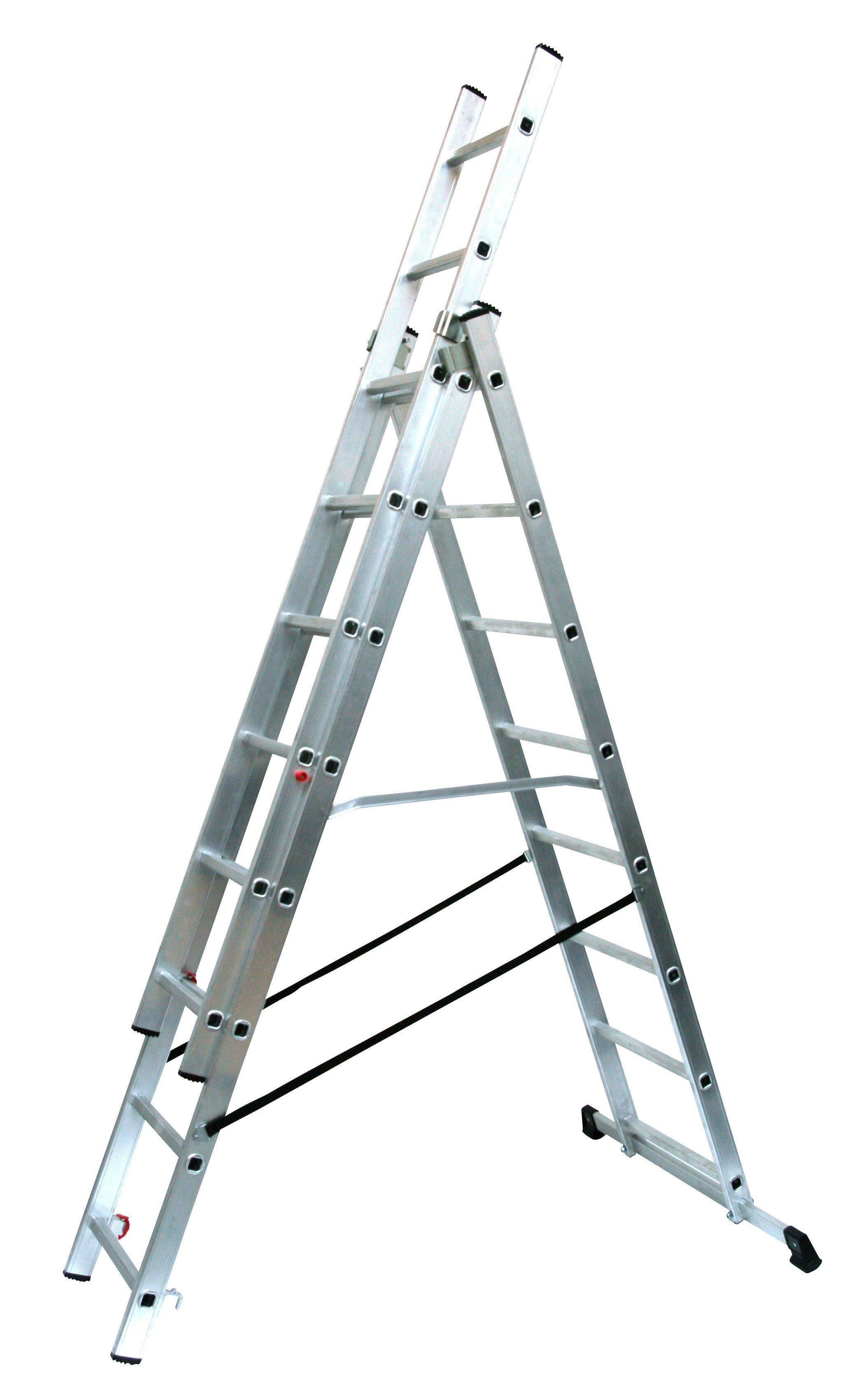 SZ METALL Alu-Schiebeleiter »8 x 3 Sprossen« | Baumarkt > Leitern und Treppen > Schiebeleiter | SZ Metall