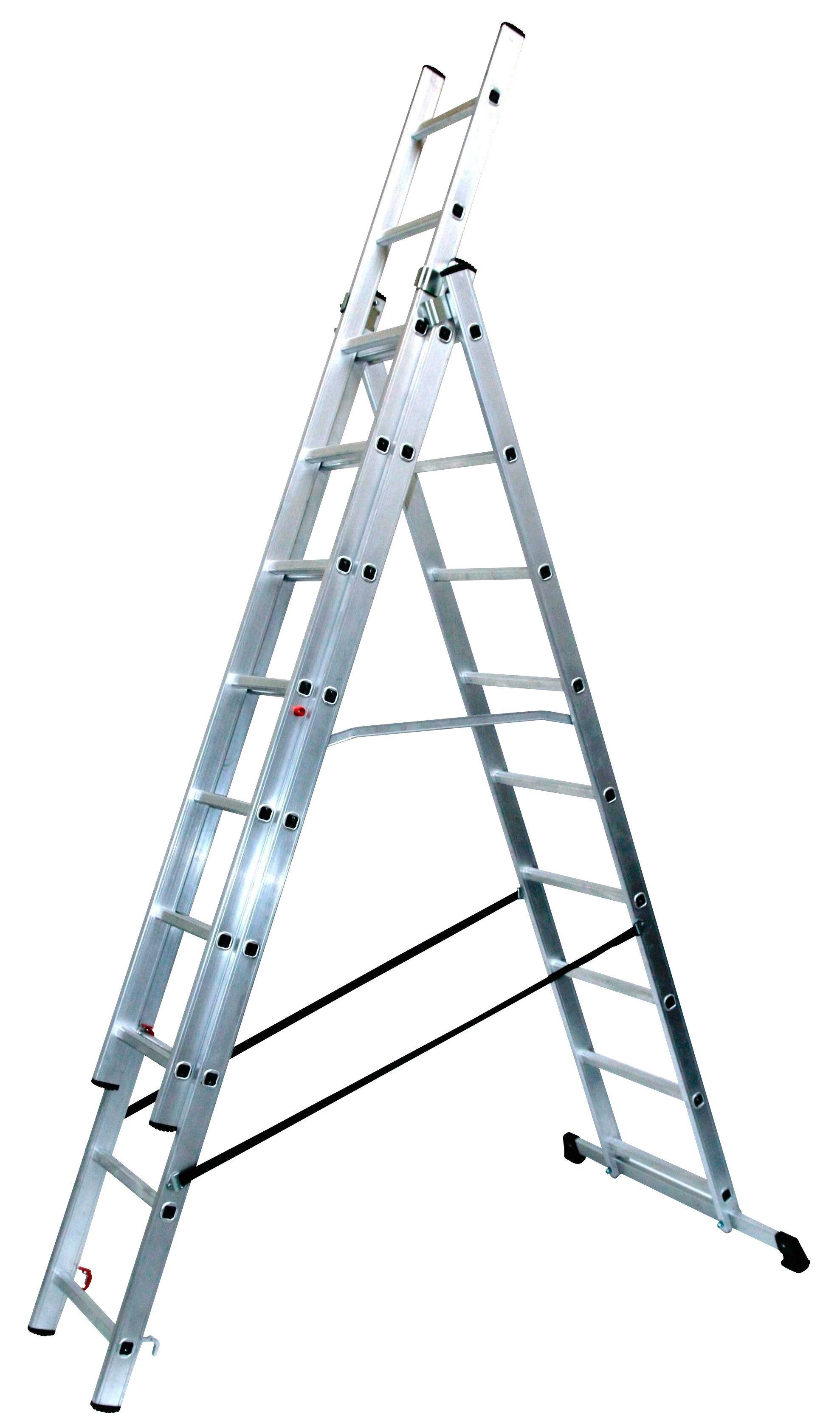 SZ METALL Alu-Schiebeleiter »9 x 3 Sprossen« | Baumarkt > Leitern und Treppen > Schiebeleiter | SZ Metall