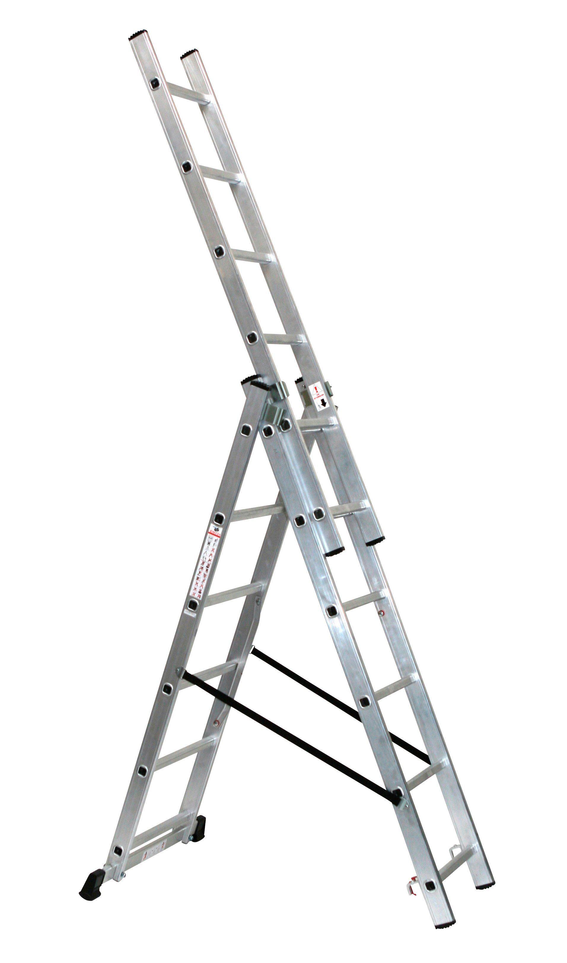 SZ METALL Alu-Schiebeleiter »6 x 3 Sprossen«