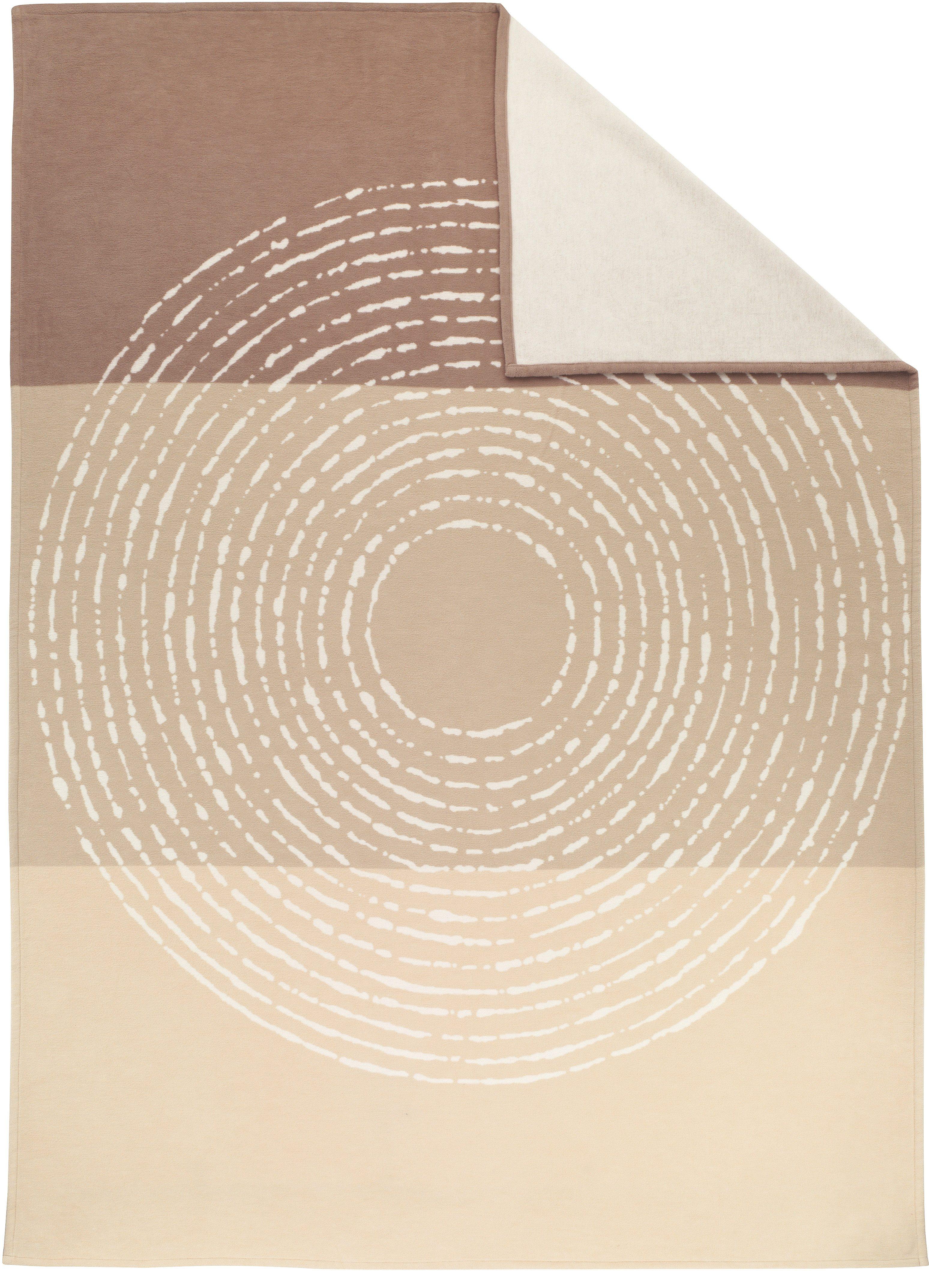 Wohndecke, Ibena, »Cotton Pur Circle«, mit großem Kreis