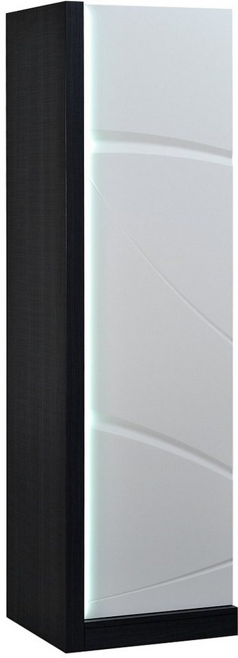 Stauraumelement, S.C.I.A.E., Höhe 169 cm in grau/weiß hochglanz