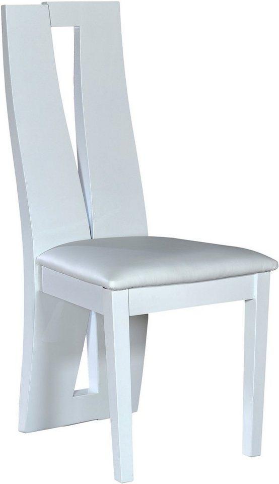 S.C.I.A.E., Stühle »Brook«, (2 Stück) in weiß Hochglanz
