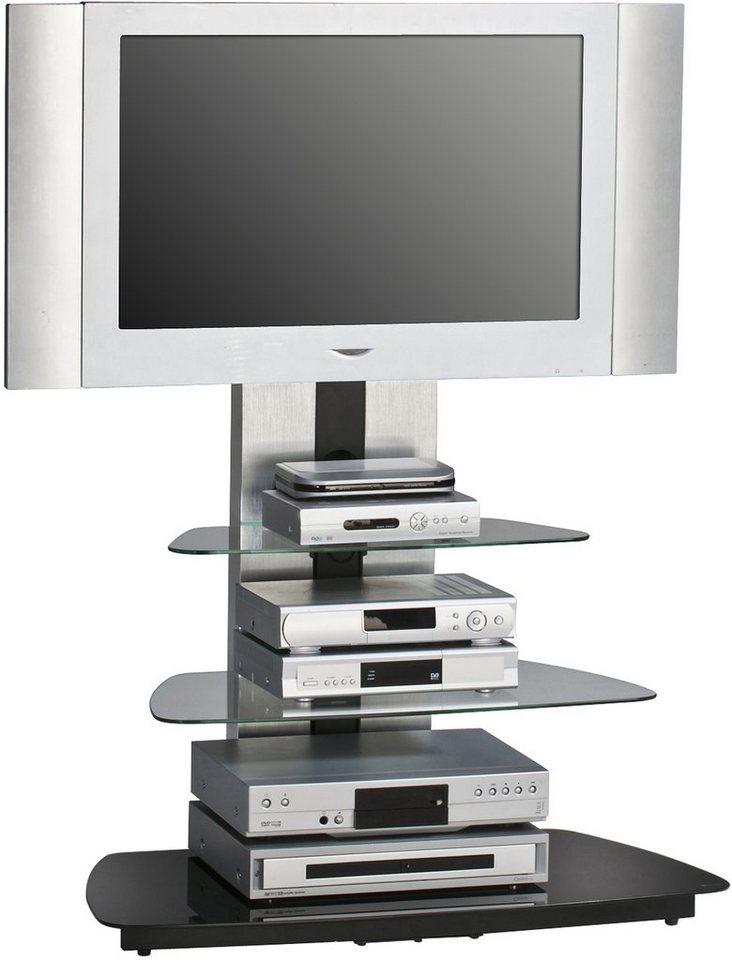 TV-Rack, Maja Möbel, »1618«, Breite 90 cm in Metall Alu-Schwarzglas