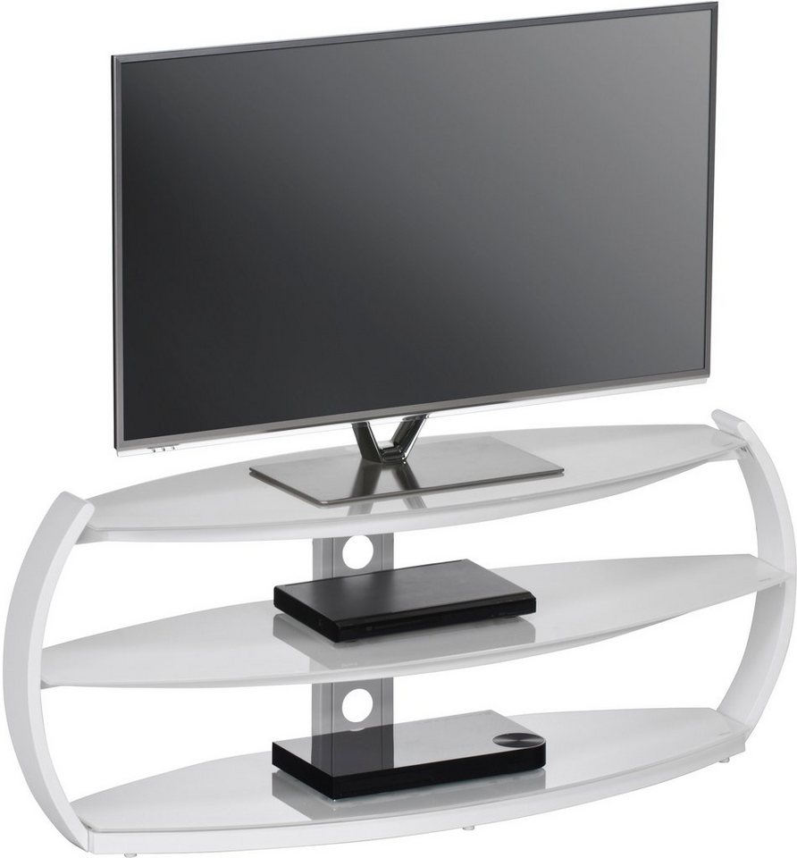TV-Rack, Maja Möbel, »1626«, Breite 125 cm in weiß uni-Weißglas