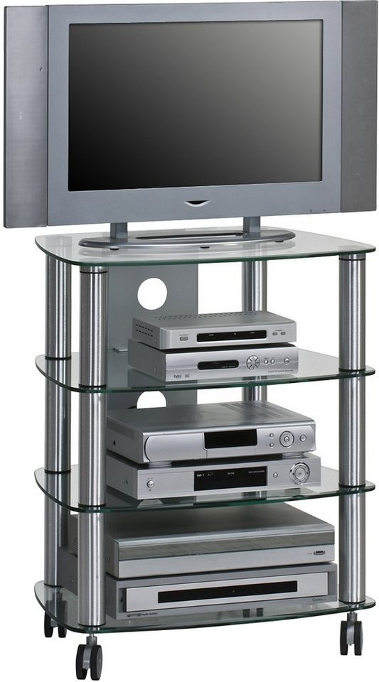 TV-HiFi-Rack, Maja Möbel, »1611«, Breite 60 cm | Wohnzimmer > TV-HiFi-Möbel > HiFi-Racks | Metall - Sicherheitsglas | Maja Möbel
