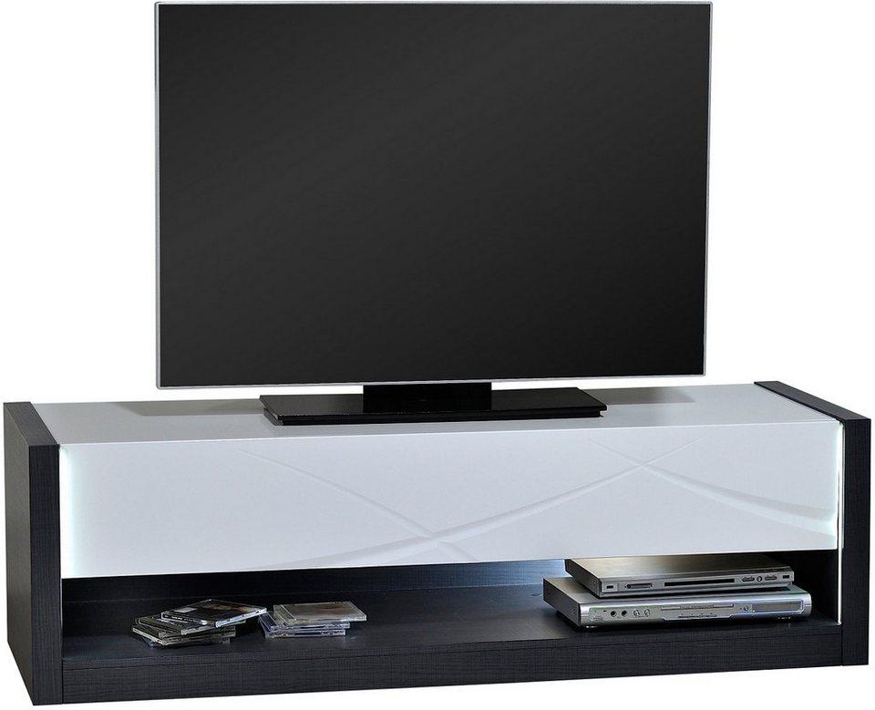 Lowboard, S.C.I.A.E., Breite 150 cm in grau/weiß hochglanz