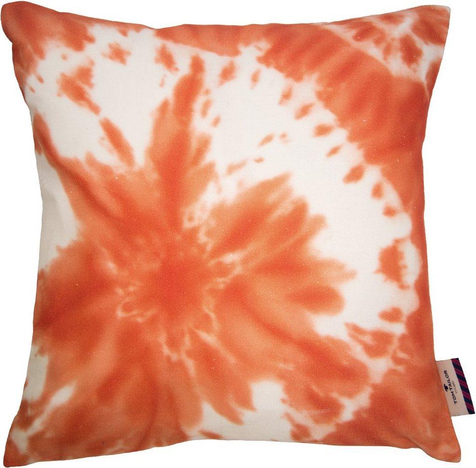 Kissen, Tom Tailor, »Batic Flower« (1 Stück) in koralle