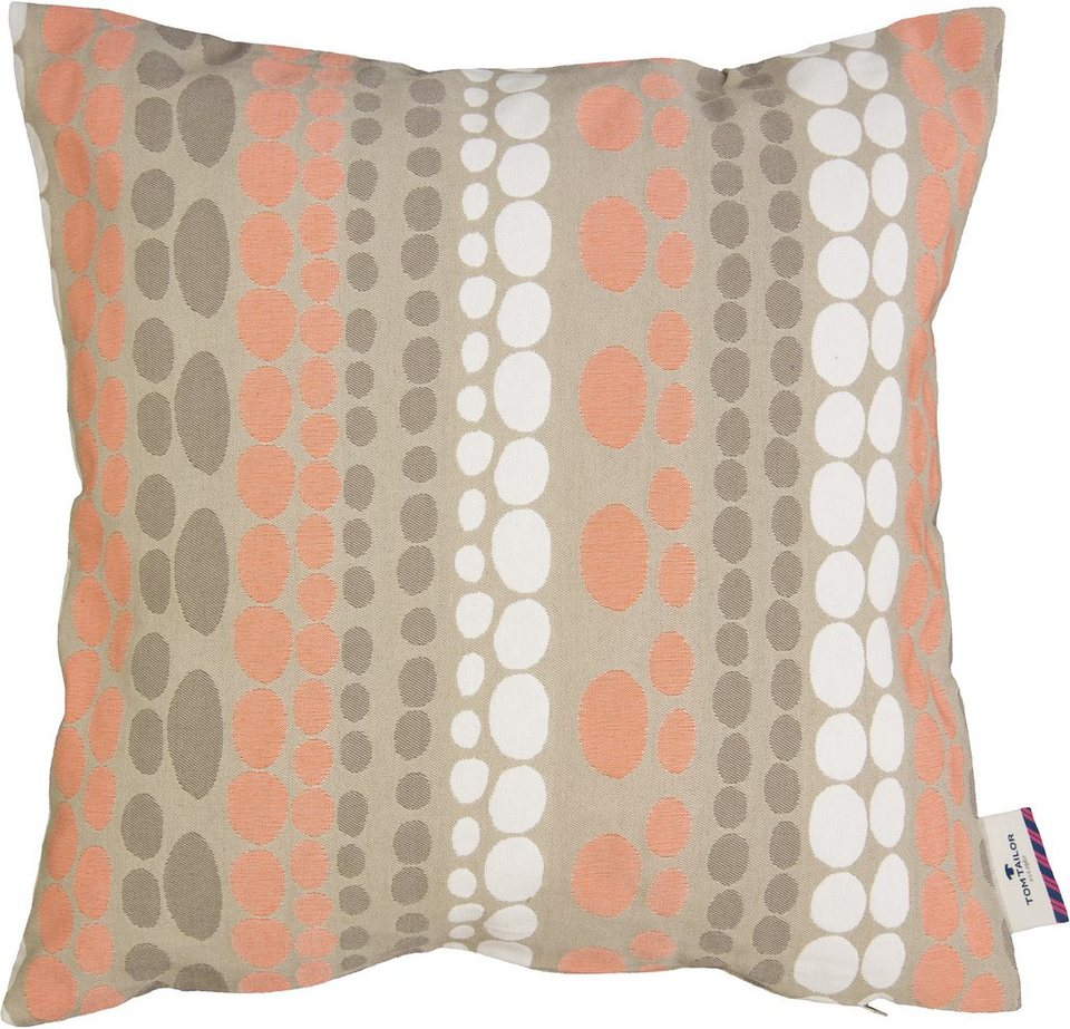 Kissen, Tom Tailor, »Pastel Dots« (1 Stück) in orange-taupe