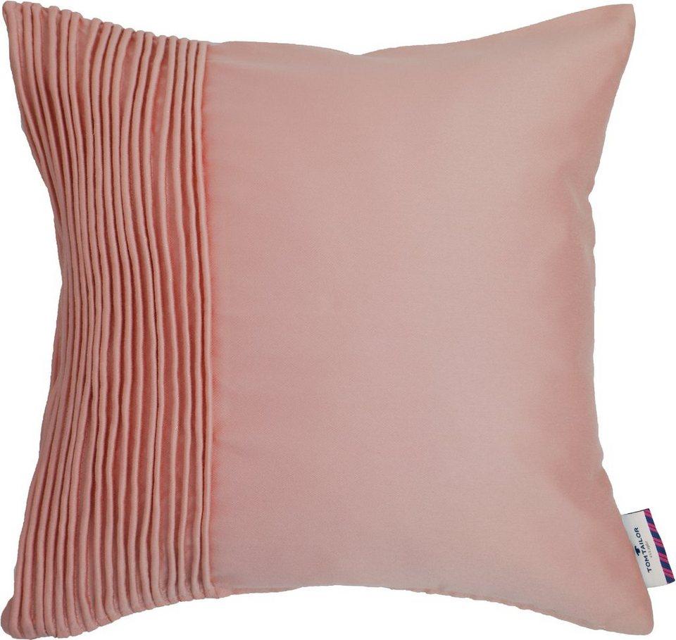 Kissen, Tom Tailor, »Uni Pleats« (1 Stück) in rosa