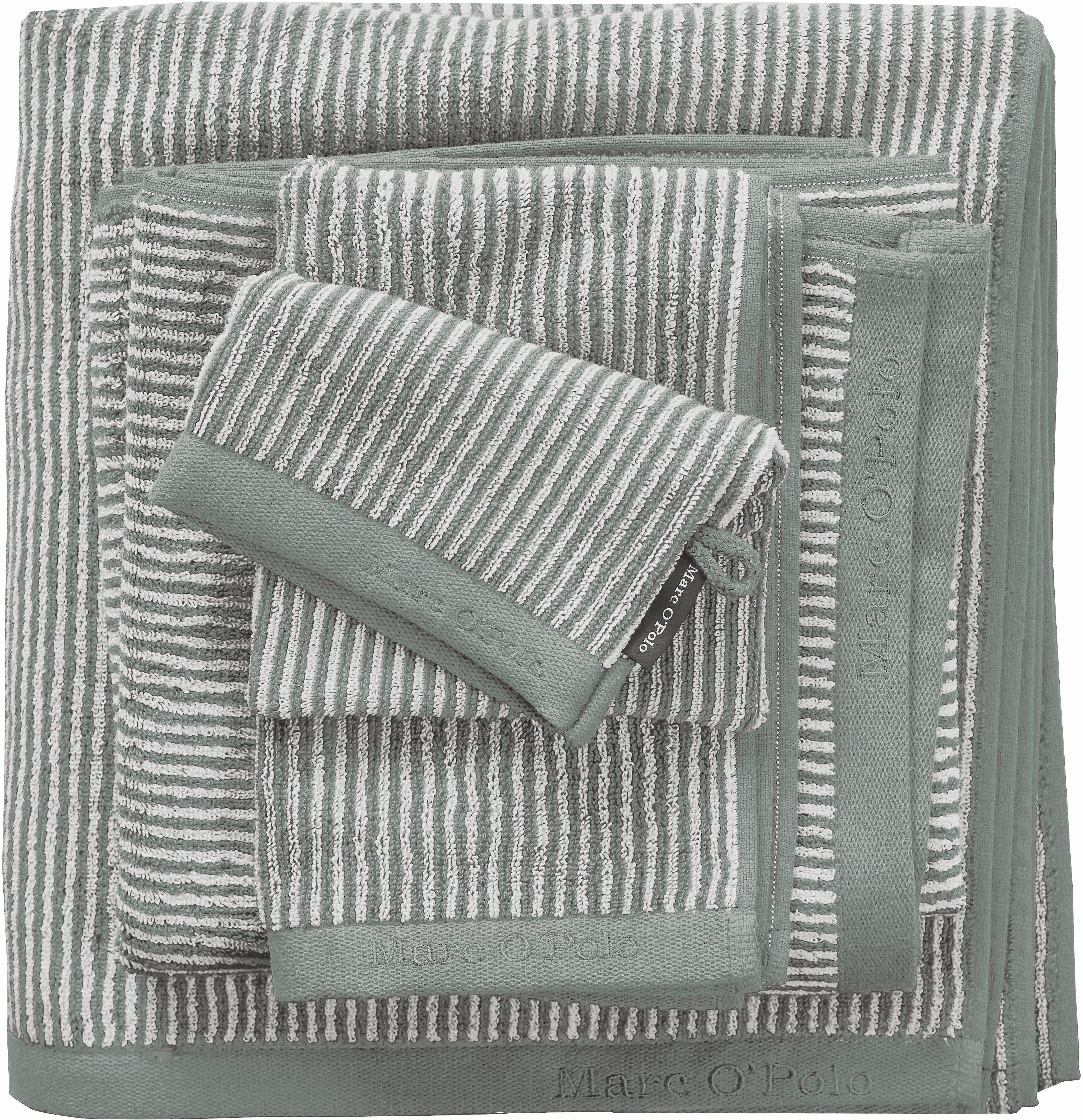 Handtücher »Timeless Tone Stripe«, Marc O'Polo Home, mit Logostickerei