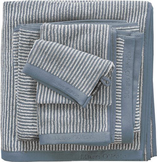 Marc O'Polo Home Badetuch »Timeless Tone Stripe« (1-St), mit Logostickerei