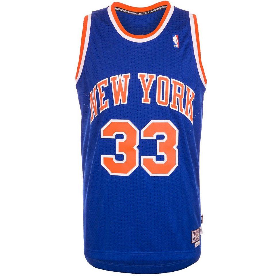 adidas Performance New York Knicks Ewing Swingman Basketballtrikot Herren in blau / orange / weiß