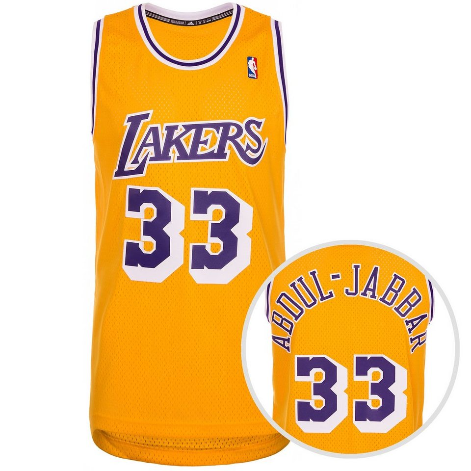 adidas Performance LA Lakers Abdul-Jabbar Swingman Basketballtrikot Herren in gelb / lila / weiß