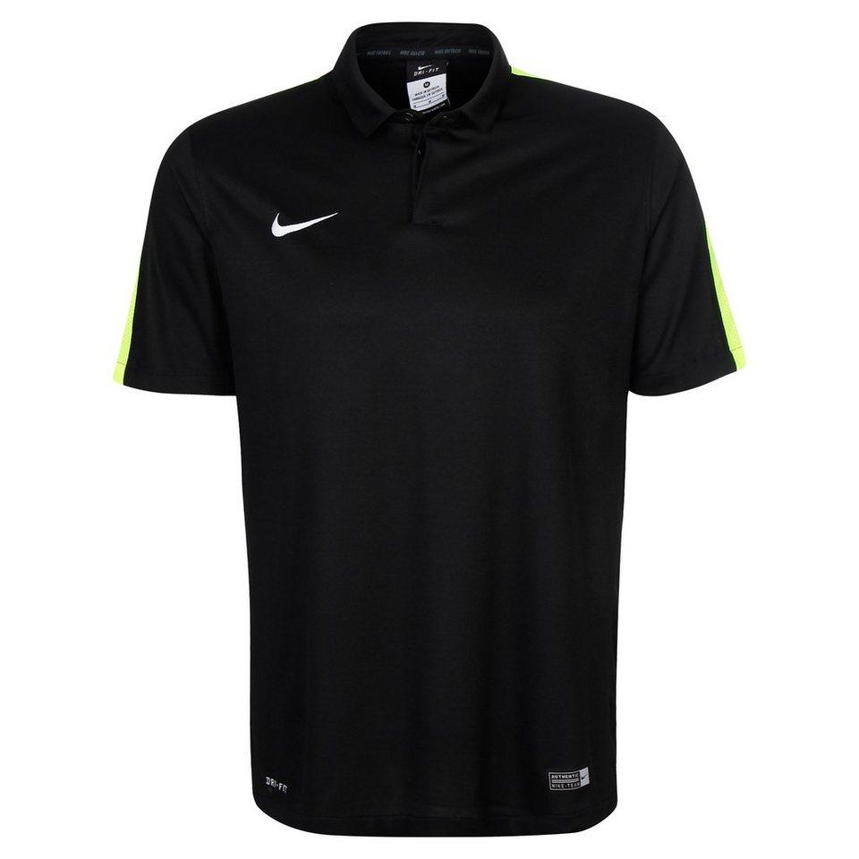 NIKE Squad 15 Sideline Poloshirt Herren in schwarz / lime
