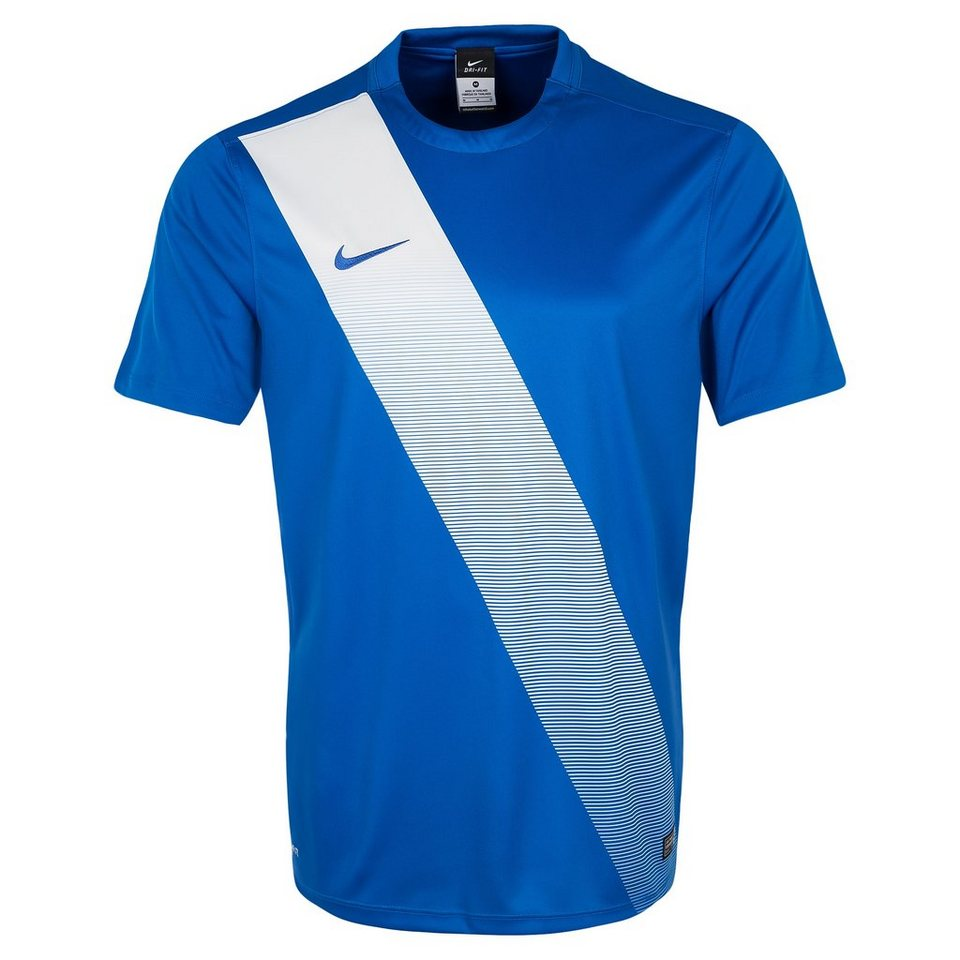 NIKE Sash Fußballtrikot Herren in blau / weiß